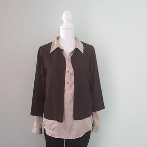 Eileen Fisher one button cardigan